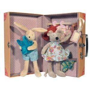 This Grand Family little wardrobe available at Chelsea Toys is an adorable gift for toddlers! The suitcase opens up into a wardrobe containing a small Sylvain rabbit and Nini mouse and a selection of day and night time clothing. (£65) http://www.chelseatoys.co.uk/toddler-1-3-yrs/soft-toys/632451