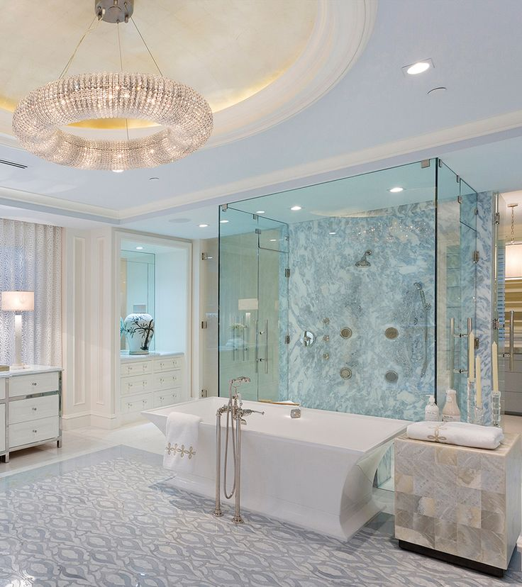 Stunning bath by Marc Michaels Interior Design with