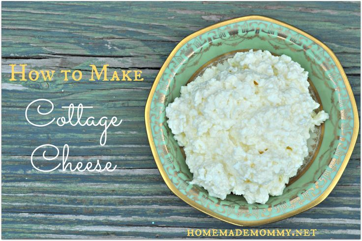 Surprisingly easy! Only requires ONE ingredient! How to Make Cottage Cheese via Homemade Mommy