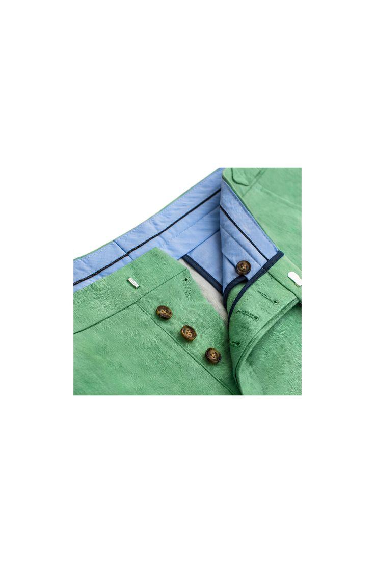 Spodnie męskie lniane Mint