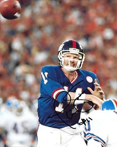 Phil Simms, New York Giants, SB MVP, Signed, Autographed, 8X10 Photo, a COA with the Proof Photo of Phil Signing Will Be Included-