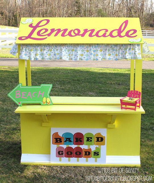 11 best lemonade stand images on pinterest lemonade for Cool lemonade stand ideas