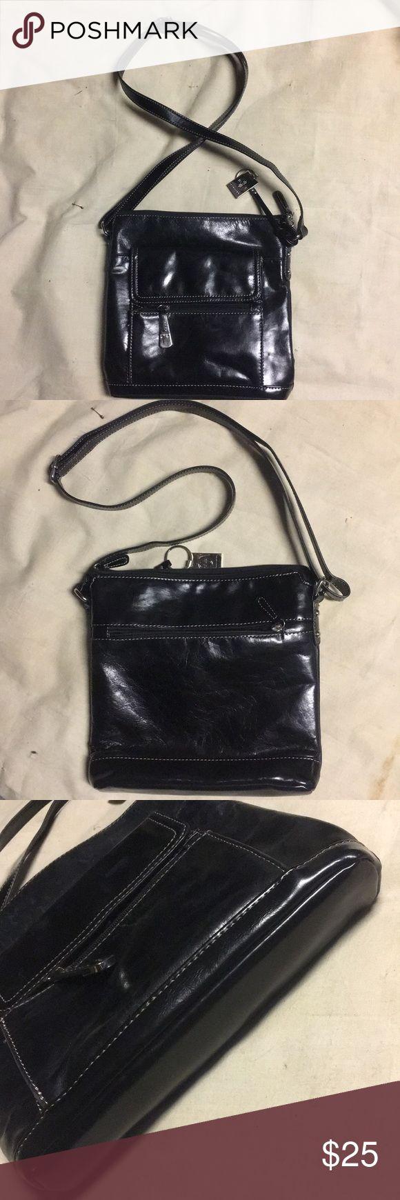 I just added this listing on Poshmark: Giani Bernini Shiny Black Crossbody Purse. #shopmycloset #poshmark #fashion #shopping #style #forsale #Giani Bernini #Handbags