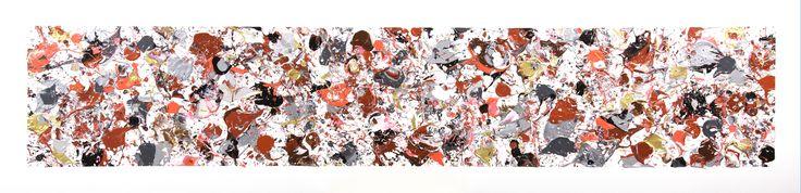 Strangeness And Charm, 18x72  Acrylique sur toile (2017)