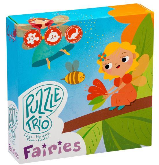 TRÍO DE PUZZLES HADAS 3 puzzles de 4, 6 y 9 piezas de un cuadro hermoso y duradero (23x23x6cm) con diseños encantadores para pequeñas mentes curiosas. Con 5 temas para elegir, estos rompecabezas 25x25cm tienen piezas grandes y gruesas, ideal para las pequeñas manos de los niños. Están diseñados para aumentar el nivel de dificultad a medida que el niño aprende. #puzzleinfantilecologico #Glottogon http://www.babycaprichos.com/trio-de-puzzles-hadas.html