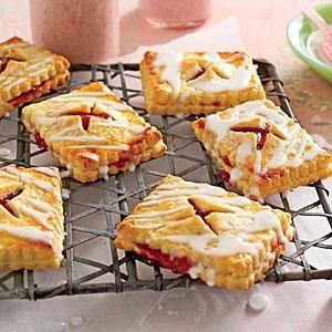 Strawberry-Rhubarb Tartlets | MyRecipes.com