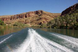 TWA-0052719 © WestPix Upper Ord River near Kununurra, East Kimberley. On Triple J Tour by boat. Picture: Stephen Scourfield The West Australian