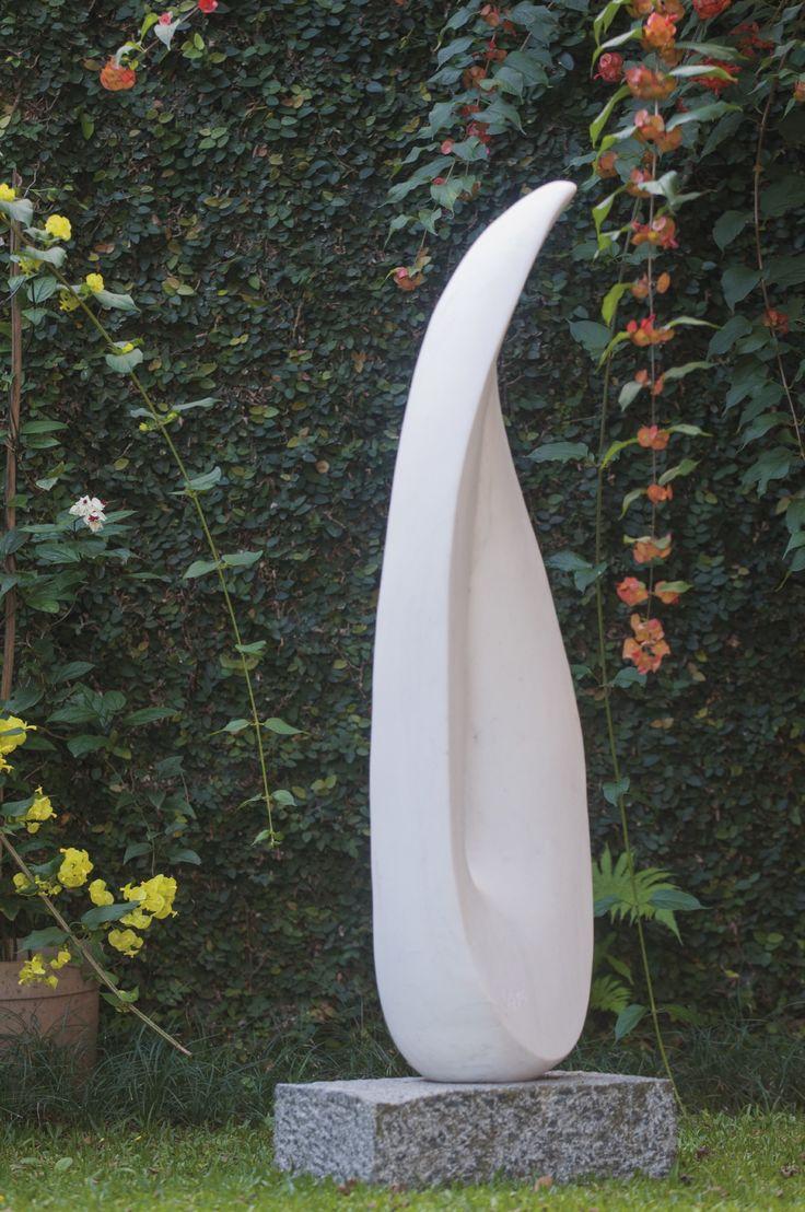 Leopoldino de Abreu - Leaf in the Wind #Sculpture - White Marble 2015