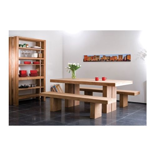 Nice Teak Double Dining Tables From Ethnicraft