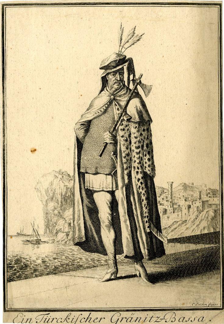 "76 A Turkish Border Pasha. Abraham a Sancta Clara's ""Neu-eröffnete Welt-Galleria"", 1702. Prints after Caspar Luyken"