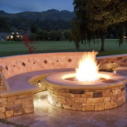 Traditional Backyard Fire Pit Ideafire Pit With Burms Design Ideas, Pictures, Remodel and Decor