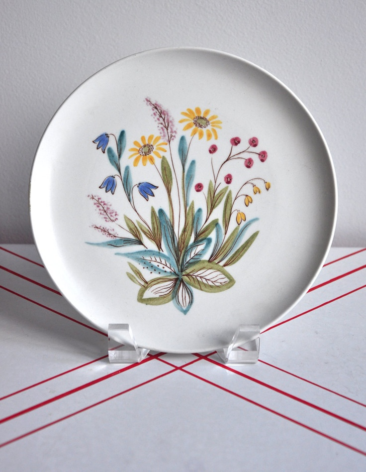 """Rorstrand """"Flora"""" Plate made in Sweden."""