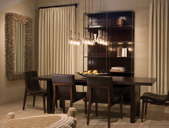 I Love This Dining Room, Holly Hunt Furniture, Allison Berger Lighting