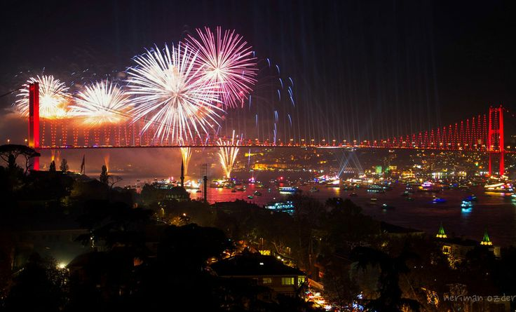 Bosphorus on fire by neriman ozder on 500px