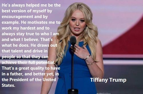 Tiffany Trump Republican Convention 2016 Speech. His desire for excellence is contagious.