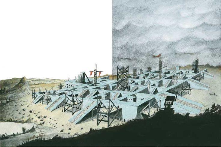 """Nelson Cruz ilustrou o conto """"O Edifício"""""""