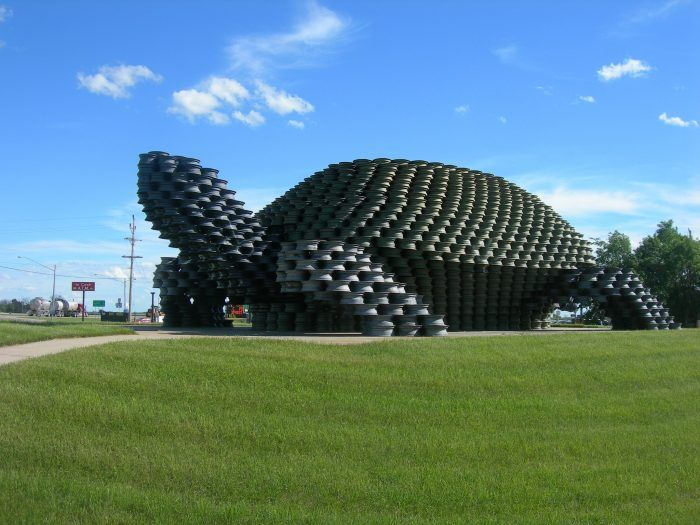 4. There is a giant turtle made entirely out of tire rims in Dunseith called the W'eel Turtle.