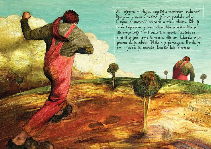 """Tomislav Torjanac illustration for """"The Little Girl and the Giant""""."""
