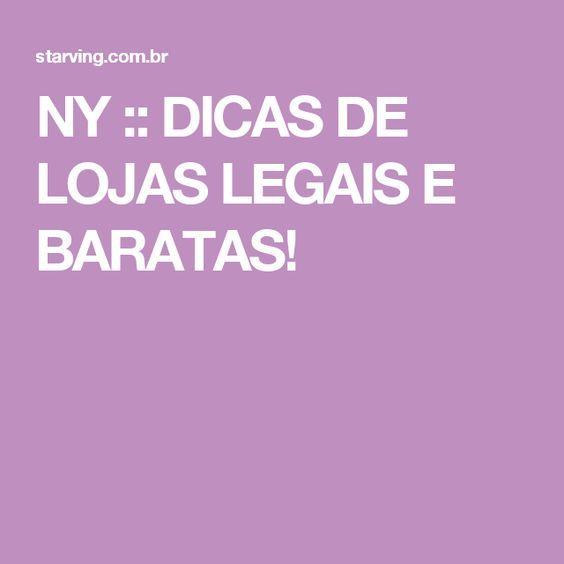 NY :: DICAS DE LOJAS LEGAIS E BARATAS!
