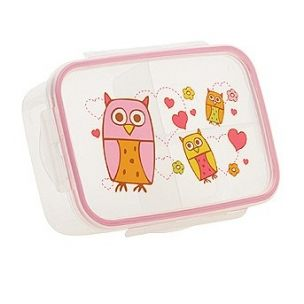 $6.99 Good Lunch Box 3 Compartment Divided Lunch Container Hoot