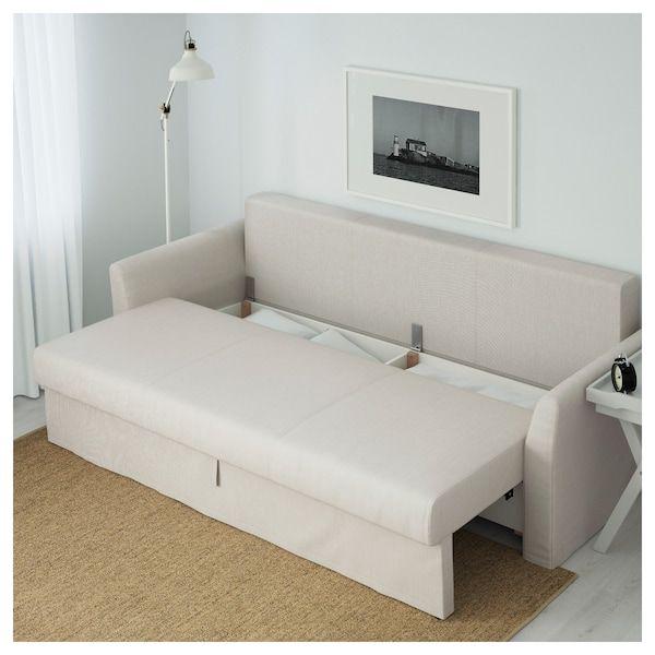 ikea holmsund sofa bed nordvalla beige in 2019 living room rh pinterest com