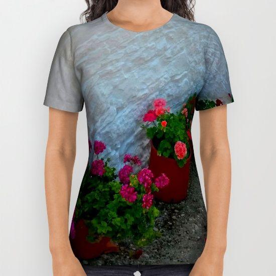 BLACK FRIDAY 20% OFF+FREE SHIPPING EVERYTHING #Christmas #shopping #popart #blackfriday #society6 #xmas #kids #yoga https://society6.com/product/geraniums-small-village-greece_all-over-print-shirt?curator=azima