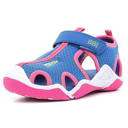 GEOX Junior sportovní sandále Wader G. A Royal/Fuchsia J5208A-01415-C4042 - SLEVA až 330 Kč | Vivantis.cz - Být sám sebou