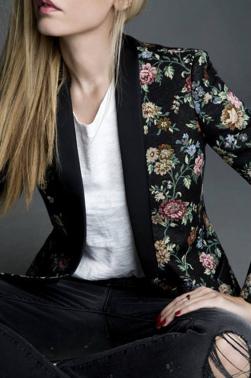 Floral Tapestry Blazer