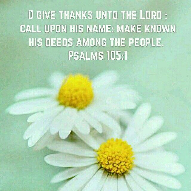 Psalms 105:1 KJV