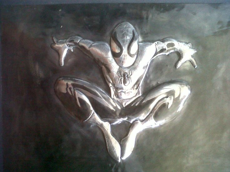 Pewter Spiderman by Nicole Roxburgh