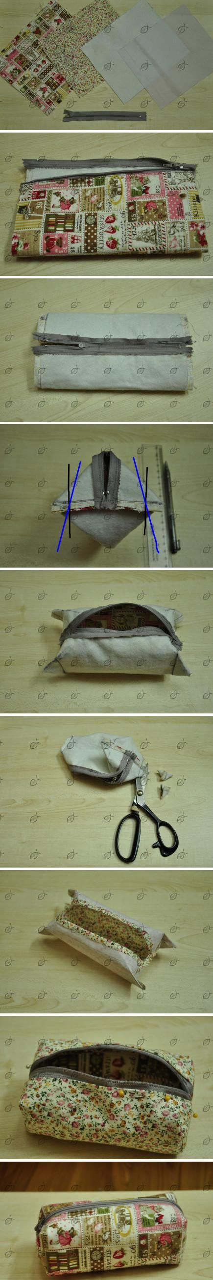 easy box zipper bag