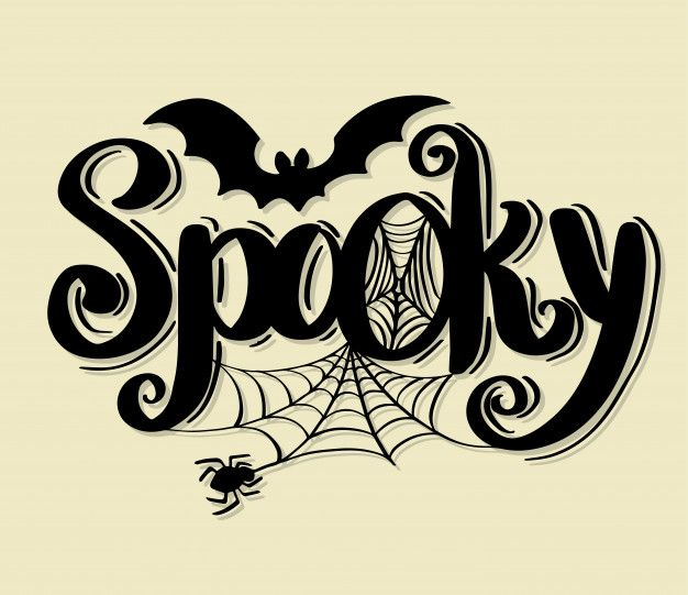 Happy Halloween Vector Lettering Holiday Calligraphy In 2020 Halloween Calligraphy Halloween Vector Holiday Calligraphy