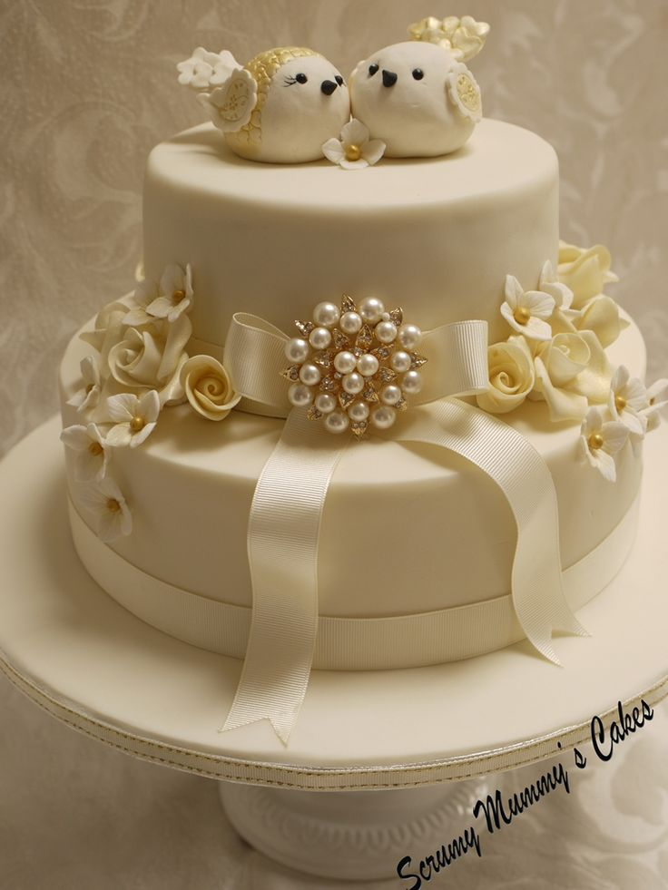 Wedding cake, but with a different topper!