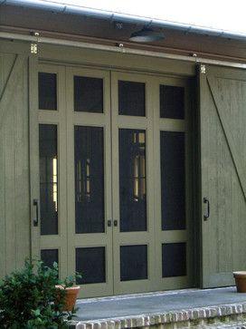 Screen doors inside barn doors