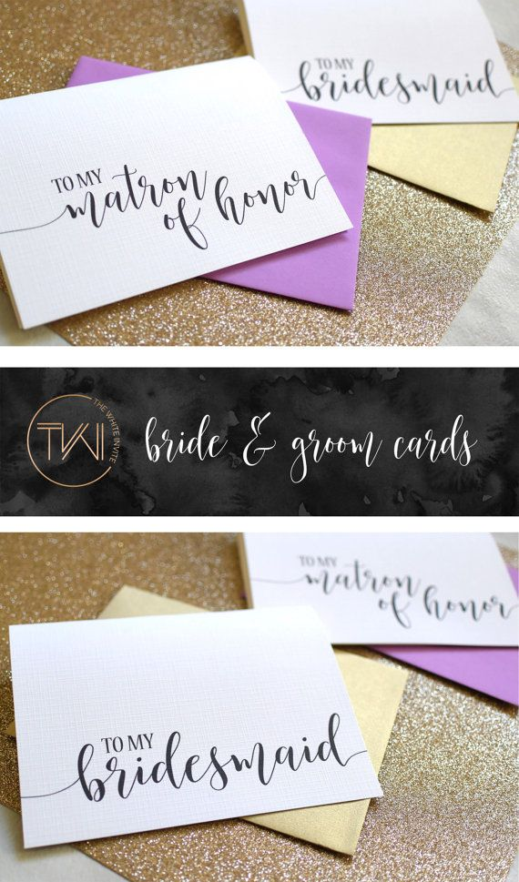 wedding custom thank you cards%0A Bridesmaid Thank You Cards Wedding Thank You Cards Maid of Honor Bridesmaid thank  you cards
