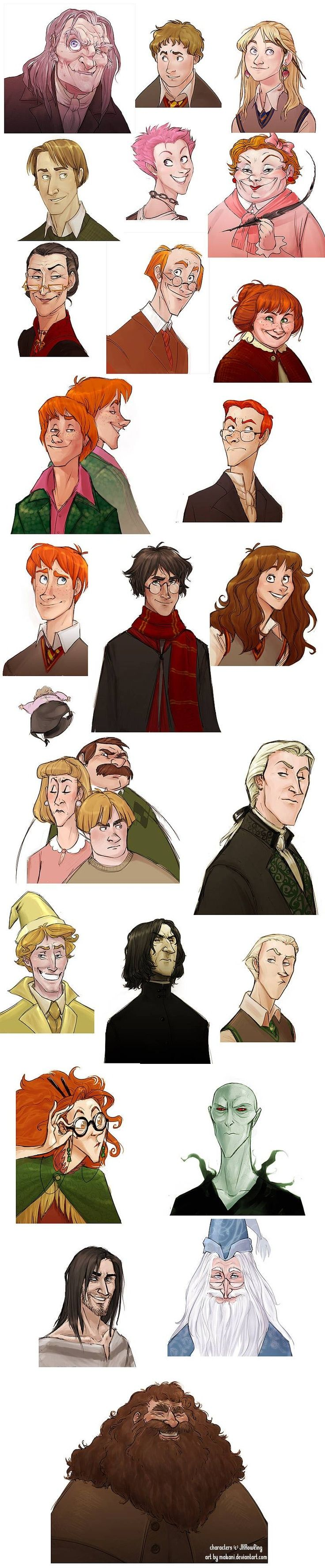 Harry Potter - #drawing #cartoon #ilustration