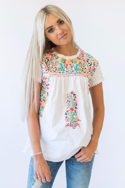 Gabby Embroidered Top - Mindy Mae's Market