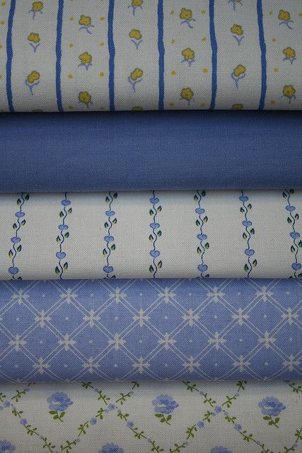 Vintage Laura Ashley Fabrics in Sapphire Blue! | Flickr - Photo Sharing!