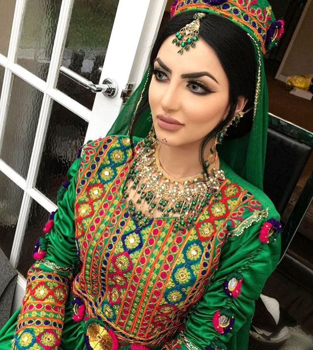 #afghan #style #dress #bride #makeup
