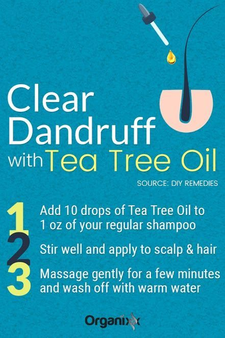 Sick of dandruff? Try this recipe with Tea Tree Oil to get rid of it.. Click on the recipe above to see where to find the purest, organic oils... #organixx