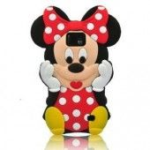 Black 3D Cartoon Mouse Soft Silicone Case Cover for Samsung Galaxy S2 II i9100