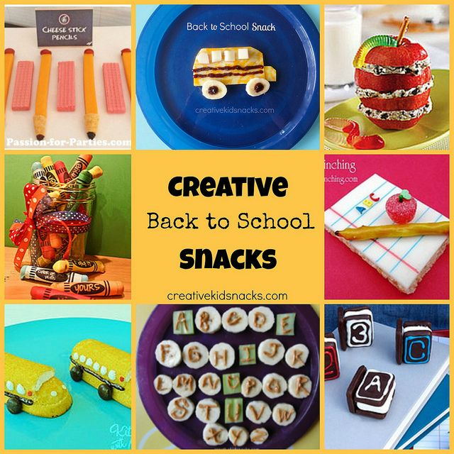 Creative and Cute Back to #School Snacks for the Kids
