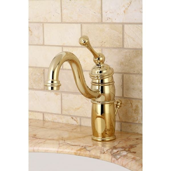 Victorian Centerset Polished Brass Bathroom Faucet | Overstock.com Shopping    The Best Deals On