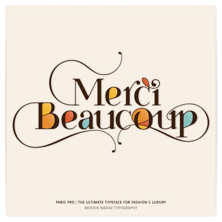 Merci Beaucoup Made With Paris Pro Typeface The