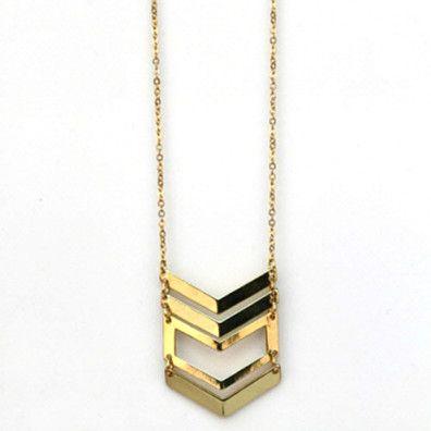 Chevron Drop Necklace by StyleGirl on Opensky
