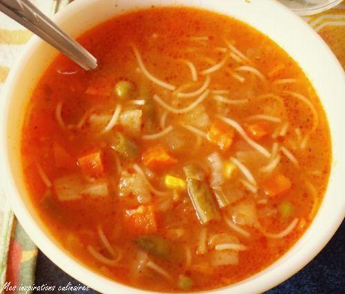 Soupe aux legumes, express et facile