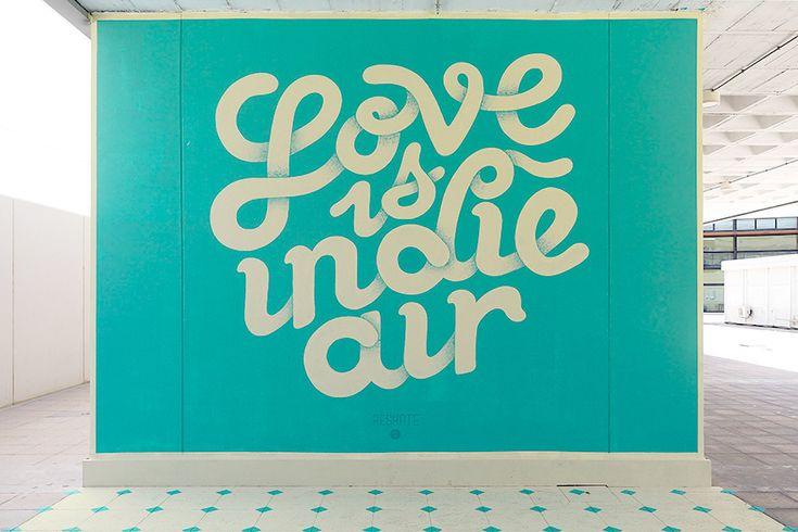 """Love is indie air"" Walls on Behance"