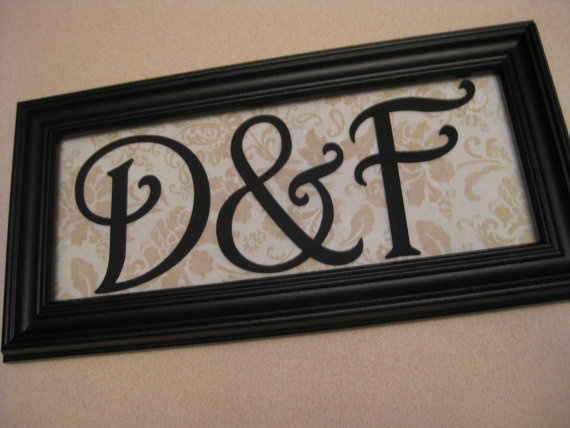 Initial Sign Wedding Anniversary Gift by ForLittleBuggies on Etsy, $18.00