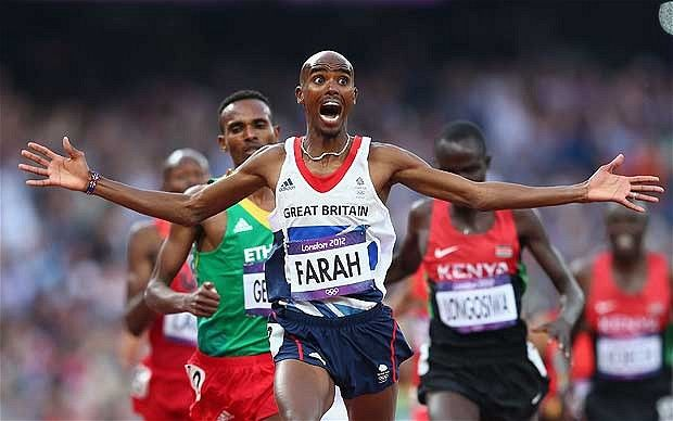 Mo Farah, the people's hero, shows mindset of true warrior to win double Olympic gold. This is hands down my favorite picture from the Olympics.