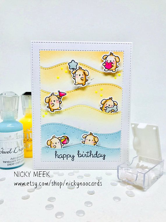 Little Dog Agenda - Mama Elephant.  Card by Nicky Noo Cards #nickynoocards